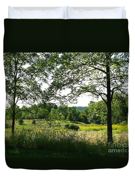 Beyound The Trees Duvet Cover