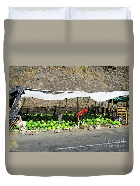 Guatemala Stand 2 Duvet Cover by Randall Weidner