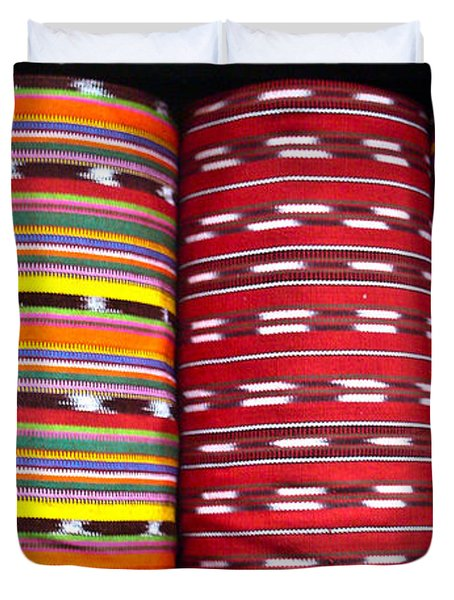 Guatemalan Textiles 2 Duvet Cover by Douglas Barnett
