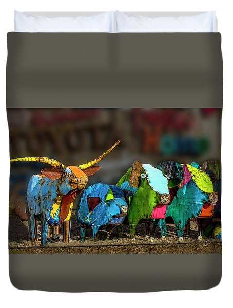 Duvet Cover featuring the photograph Guess Who's Coming To Dinner by Paul Wear