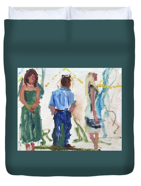 Guests 12 Duvet Cover by Carol Berning