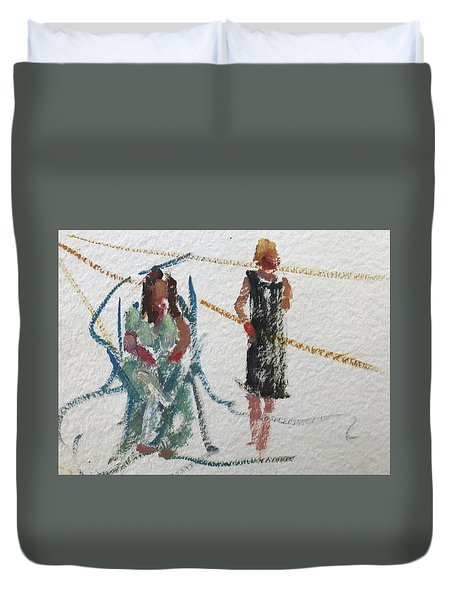 Guests 22 Duvet Cover by Carol Berning