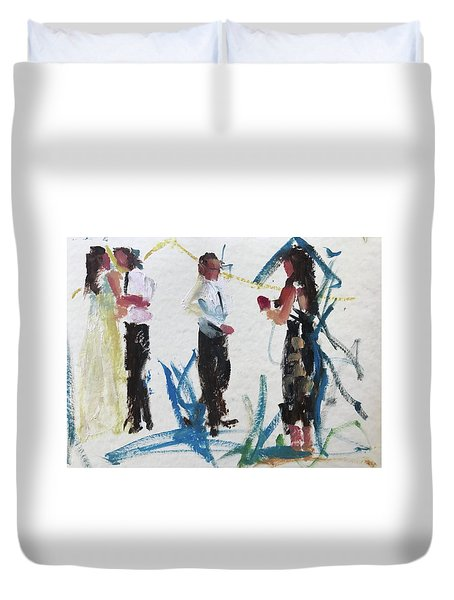 Guests 3 Duvet Cover by Carol Berning