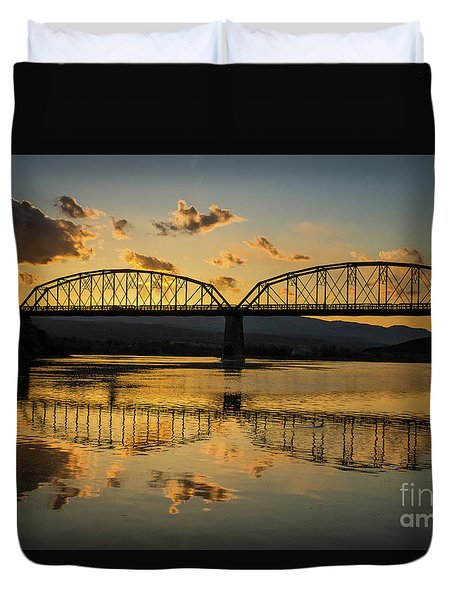 Guffey Bridge At Sunset Idaho Journey Landscape Photography By Kaylyn Franks Duvet Cover