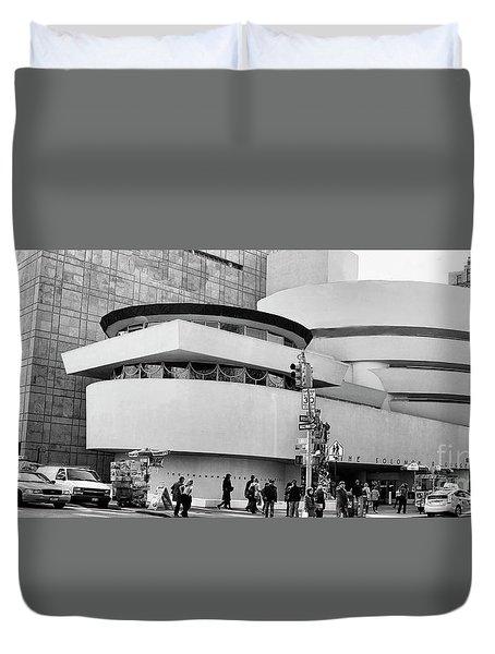 Guggenheim Museum Nyc Bw Duvet Cover