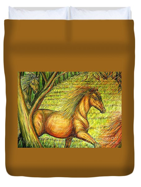 Guidance-out Of The Woods Duvet Cover by Kim Jones