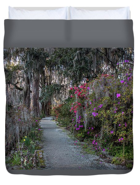 Guide Our Feet Into The Path Of Peace. Luke 1.79  Duvet Cover