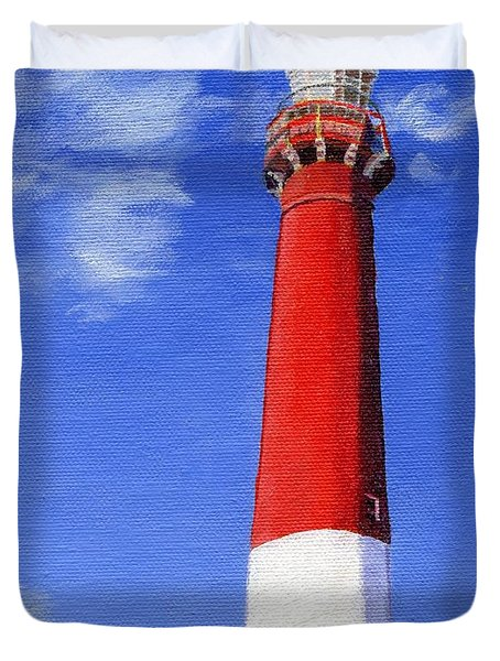 Duvet Cover featuring the painting Guiding Light by Lynne Reichhart