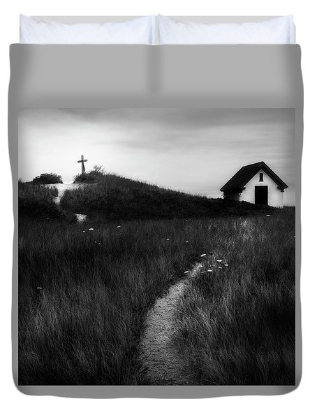 Duvet Cover featuring the photograph Guiding Light Square by Bill Wakeley