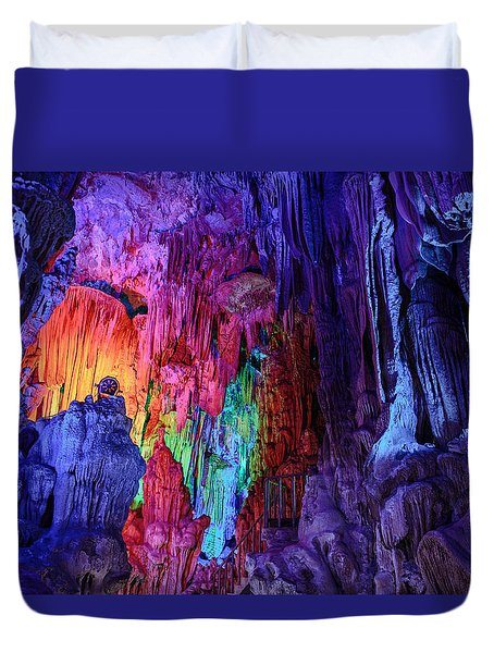 Guilin  Reed Flute Cave, China Duvet Cover