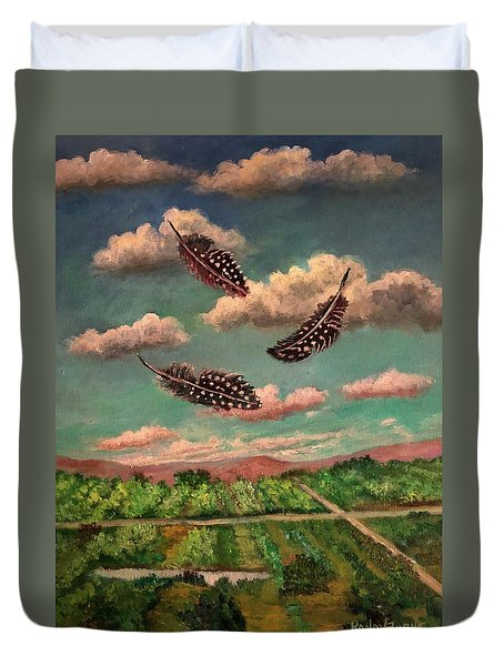 Guinea Feathers Duvet Cover