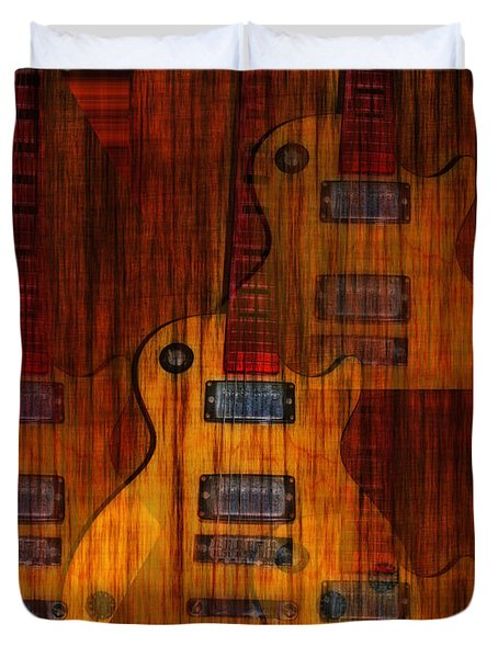 Guitar Army Duvet Cover by Bill Cannon