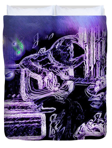 Duvet Cover featuring the photograph Guitar Blues by Susan Kinney