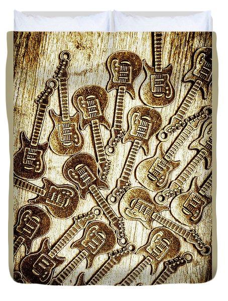 Guitar Echo Chamber Duvet Cover