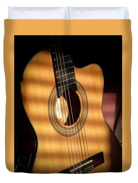 Duvet Cover featuring the photograph Guitar  by Eleanor Abramson