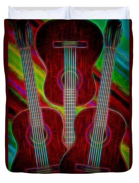 Guitar Fantasy Four Duvet Cover