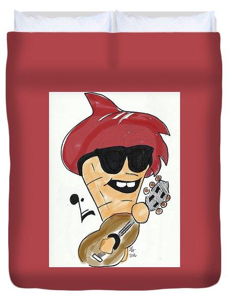 Guitar Ice Cream Duvet Cover