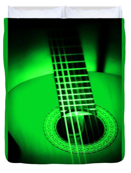 Guitar In Color Duvet Cover
