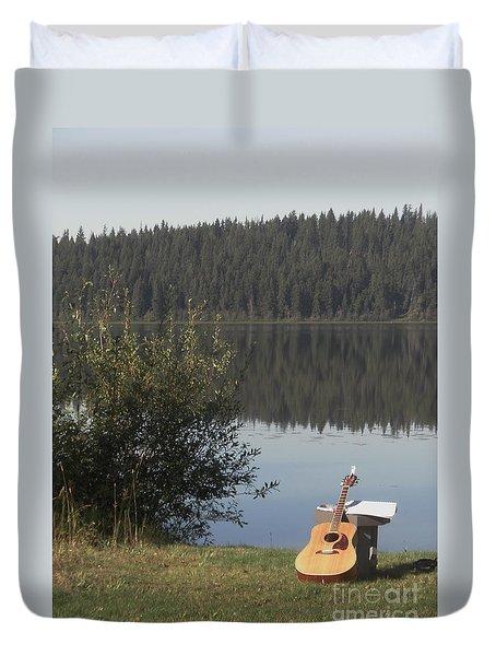 Guitar Lake Duvet Cover