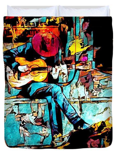 Guitar Man  Duvet Cover
