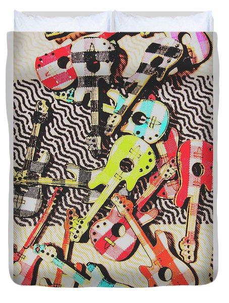 Guitar Playtime Duvet Cover