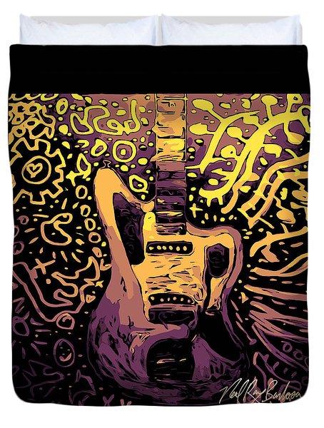 Guitar Slinger Duvet Cover