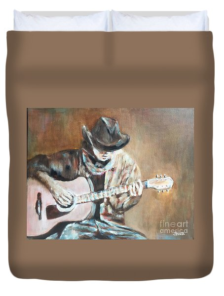 Guitar Solo Duvet Cover