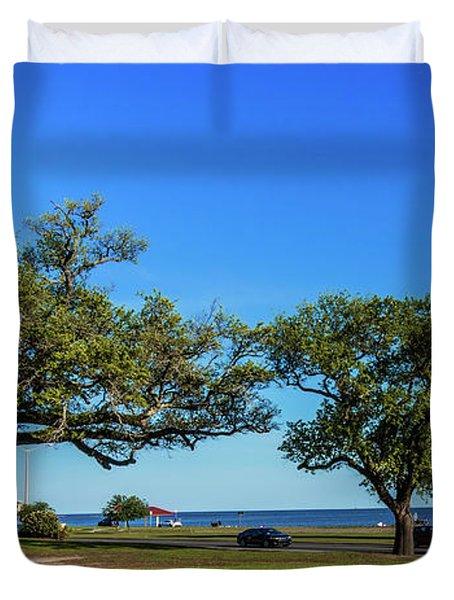 Gulf Coast Lighthouse Seascape Biloxi Ms 3663b Duvet Cover