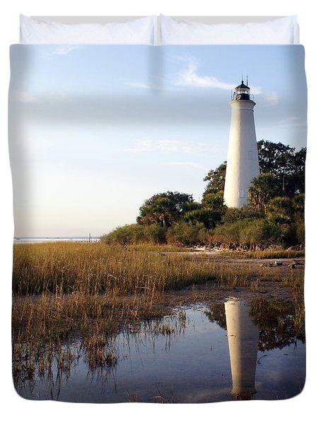 Gulf Coast Lighthouse2  Duvet Cover by Marty Koch