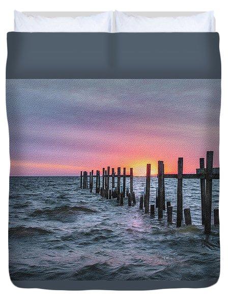 Gulf Coast Sunrise Duvet Cover