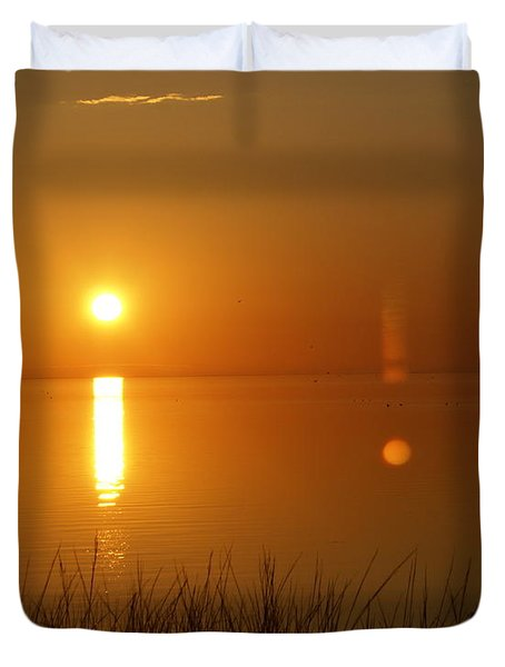 Gulf Coast Sunset Duvet Cover by Marty Koch