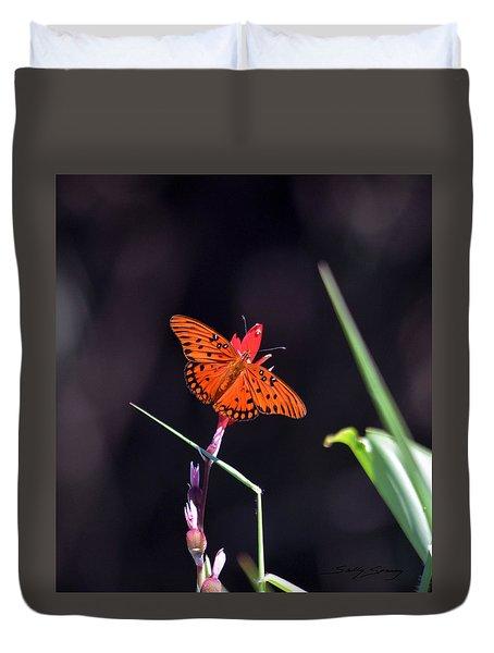 Gulf Fritillary Butterflyl Duvet Cover