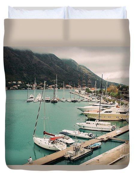 Gulf Of Kotor Duvet Cover