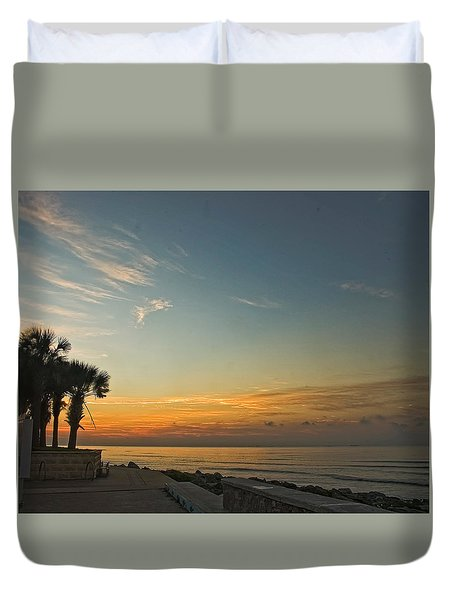 Gulf Of Mexico Sunrise Duvet Cover