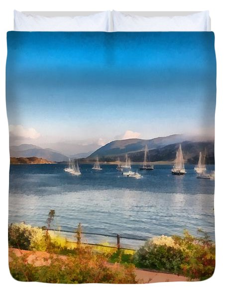 Gulf Of  Ullapool      Duvet Cover by Sergey Simanovsky