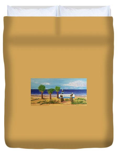 Gulf Shore Welcome Duvet Cover