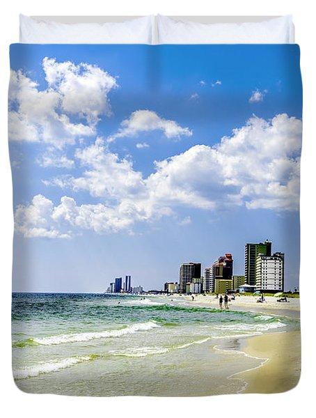 Gulf Shores Al Beach Seascape 1746a Duvet Cover