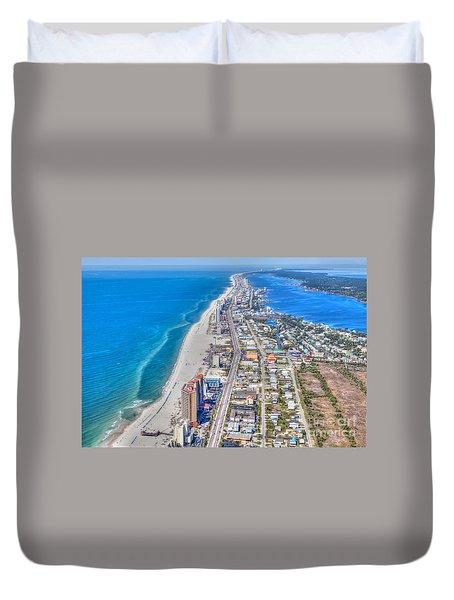 Gulf Shores Beach Looking W Duvet Cover