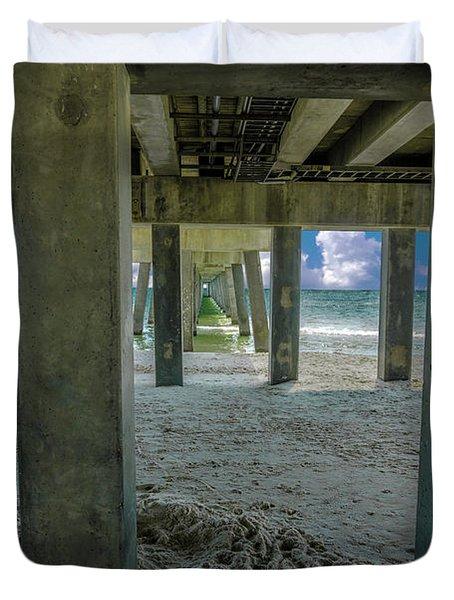 Gulf Shores Park And Pier Al 1649 Duvet Cover