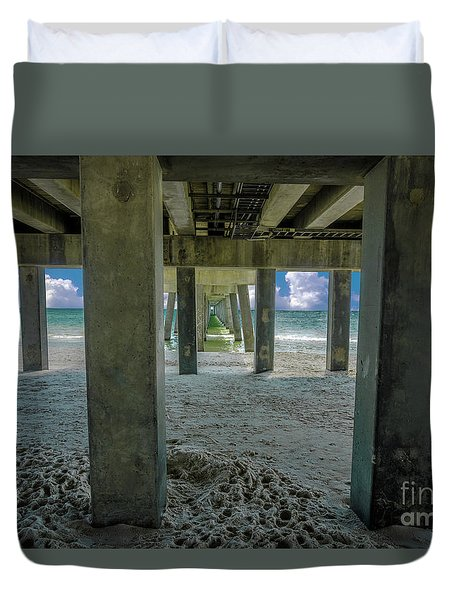 Gulf Shores Park And Pier Al 1649 Duvet Cover