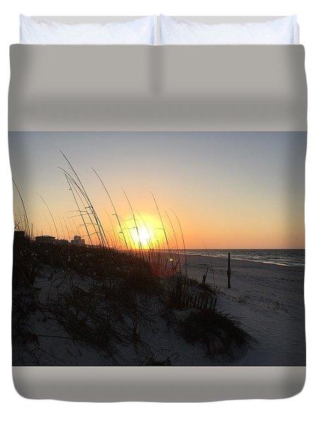 Gulf Shores Sunrise  Duvet Cover