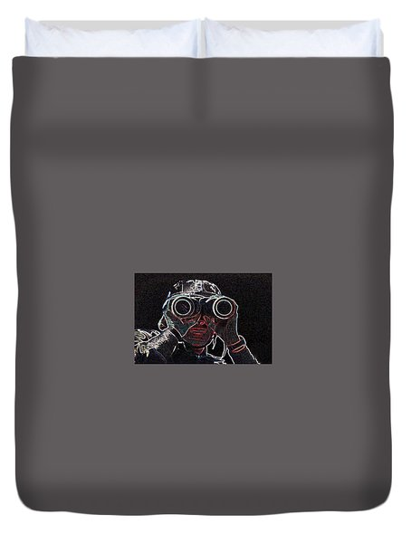 Gulf War Duvet Cover by Charles Shoup