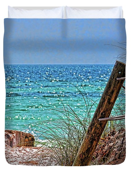 Gulf Waters Of The Florida Suncoast Duvet Cover