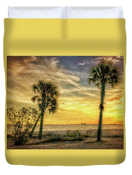 Gulfport Sunset Duvet Cover