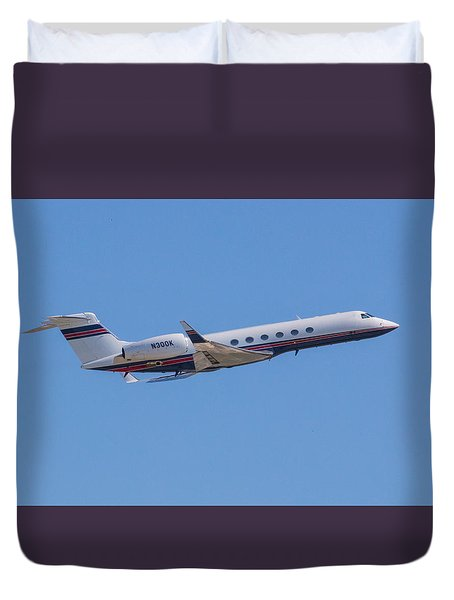 Gulfstream Gv Private Jet Duvet Cover