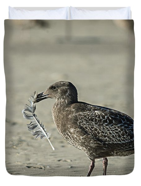 Gull And Feather Duvet Cover