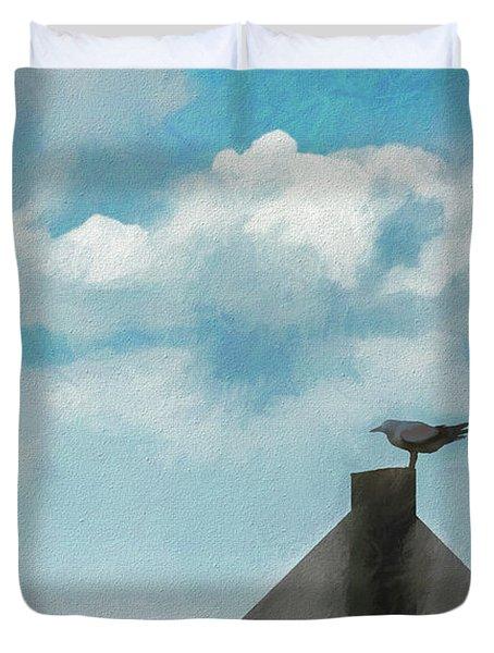 Gull And Sky Duvet Cover