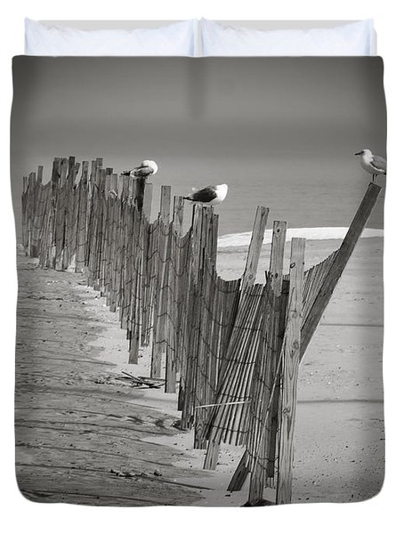 Gull Fence Duvet Cover