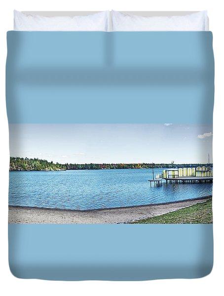 Gull Lake Panorama Duvet Cover