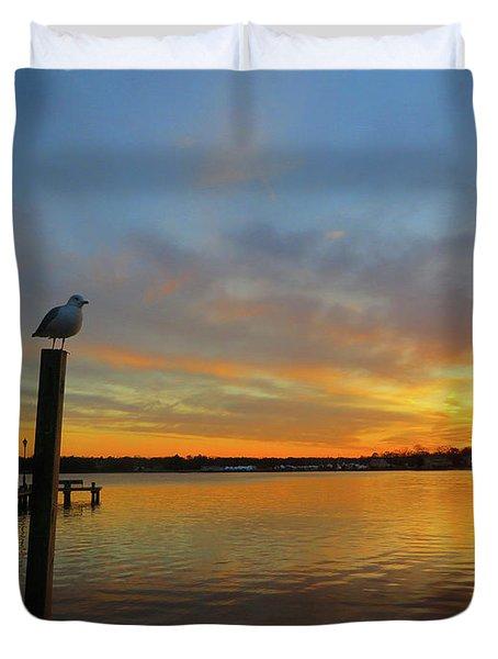 Gull Sunset Duvet Cover